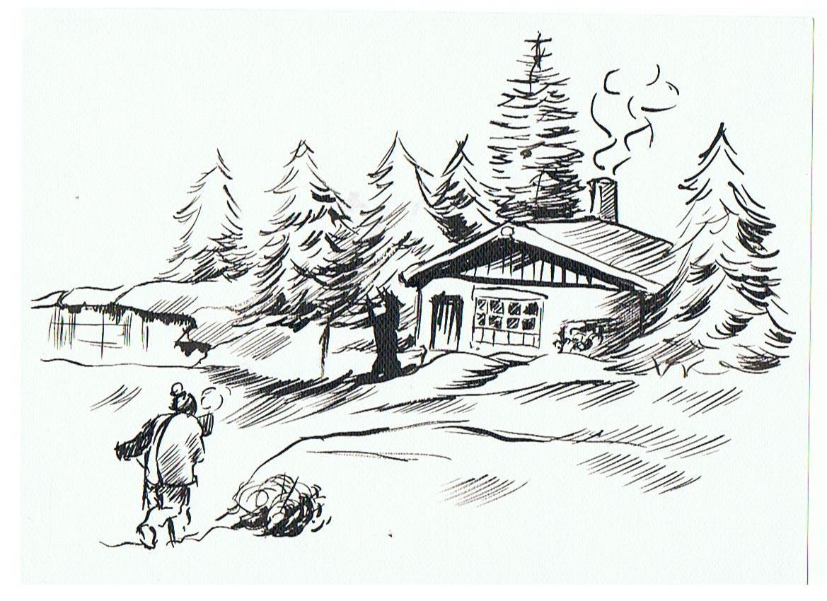 Dep dessins et caricatures - Dessiner un paysage d hiver ...