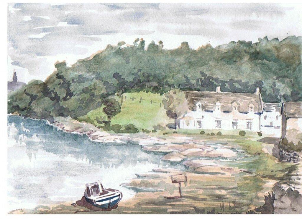Bretagne, bord de Rance dans aquarelles x11-1024x744